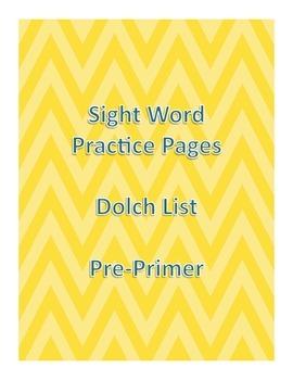 Sight Words: Pre Primer