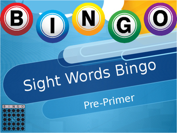 Sight Words Pre-Primer Bingo