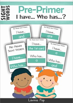 Sight Words - I Have... Who Has? (Pre-Primer Words)