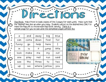 Sight Words- Pre-Primer Interactive FlapBooks