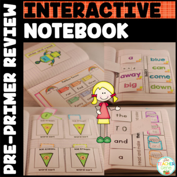 Sight Words Interactive Notebook: Pre-Primer Review