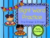 Sight Words Pre-Primer & Primer Summer Themed