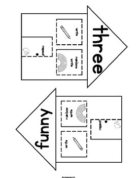 Sight Words Pre-Primer {Set 10} Interactive Notebook (run, find, three, funny)