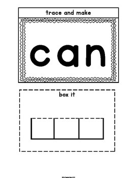 Sight Words Interactive Notebook Pre-Primer Set 5 (down, can, see, not)