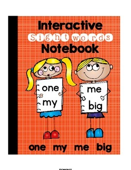 Sight Words Interactive Notebook Pre-Primer {Set 6} (one, my, me, big)