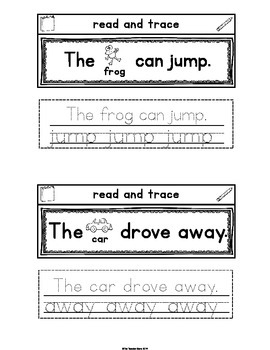 Pre-Primer Set 8 Sight Words Interactive Notebook (jump, away, here, help)