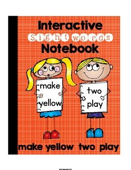 Pre-Primer Set 9 Sight Words Interactive Notebook (make, yellow, two, play)