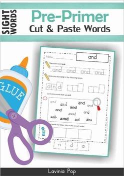 Sight Words Worksheets & Activities Pre-Primer BUNDLE