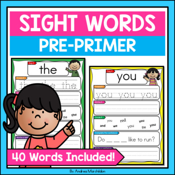 Pre-Primer Sight Words - Write & Wipe