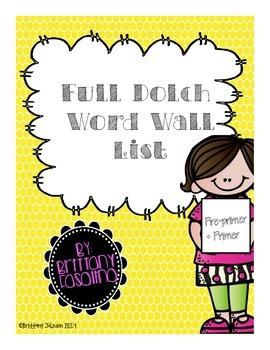 Sight Words Pre-Primer to Primer