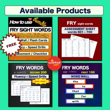 Sight Words - Pre and Post Assessment - 1st GRADE - Pre K-3 - Dolch
