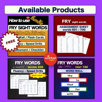 Sight Words - Pre and Post Assessment - Pre Primer - Pre K - Dolch