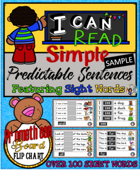 Sight Words Predictable Sentences Flip Chart Sample