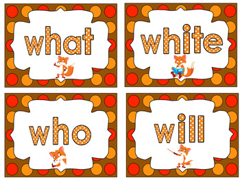 BACK TO SCHOOL - Sight Words Primer  -  52 Cards