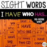 Preprimer Sight Words