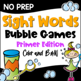 Dolch Sight Words Primer List Games for Centers or Homework