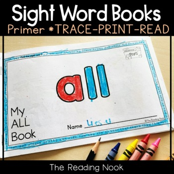 """FREE Sight Word Book """"ALL"""""""