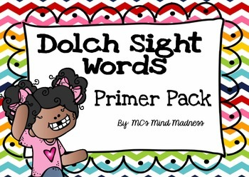 Dolch Sight Words Primer Pack Flash Cards