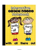 Sight Words Primer Set 3 (with,all,there,out) Interactive Notebook