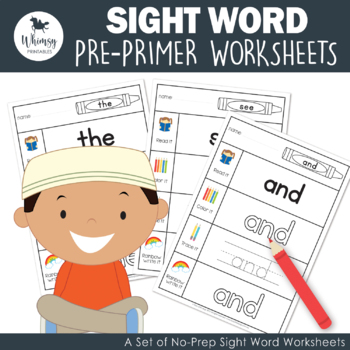 Sight Words Work Sheets