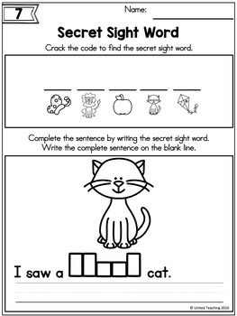 Sight Words Print + Learn Crack the Code Primer Edition