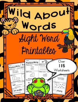 Sight Word Printables Book