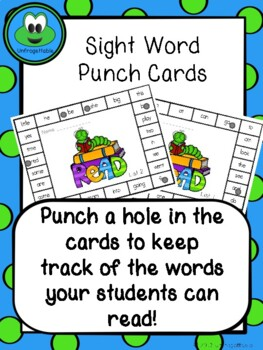 Sight Words Punch Cards