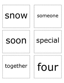 Sight Words- Purple List
