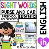 Sight Words on the Go- Purse and Carrying Case Preschool