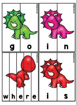Sight Words Puzzles (set 1: pre-primer)
