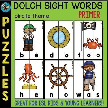 Sight Words Puzzles (set 2: primer)