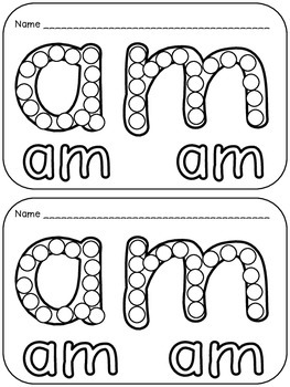 Sight Words Q-Tip Painting Pages- Dolch Primer Words