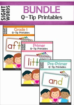 Sight Words Q-Tip Printables BUNDLE