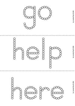 Sight Words - Q-Tip Printables (Pre-Primer Words)