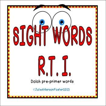 Sight Words RTI Pre-Primer