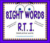 Sight Words RTI Primer