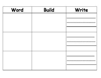 Sight Words - Read, Build, Write