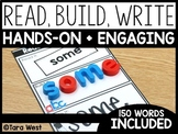 Sight Words Read, Build, Write (Editable)