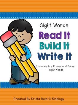 Sight Words - Read It Build It Write It