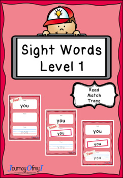 Sight Words - Read, Match, Trace (Level 1)
