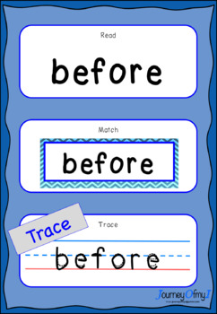 Sight Words - Read, Match, Trace (Level 2)