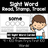 Sight Words | Read, Stamp, Trace - Set 2, 60 Words