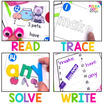 Sight Word Game  Set D