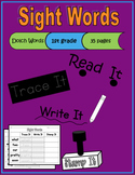 Sight Words - Read Trace Write Stamp (Dolch 1st grade)