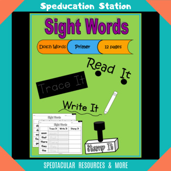 Sight Words - Read Trace Write Stamp (Primer)