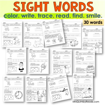Sight Words   Read-Write-Cut & Paste   Learning to Read