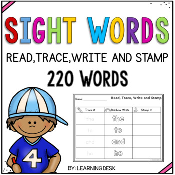 Kindergarten Sight Words Worksheets (Read, Write and Stamp)