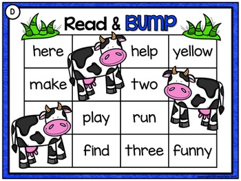 Sight Words: Read and Bump Games - Farm {Pre-Primer and Primer}