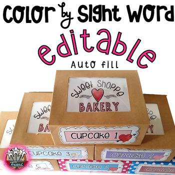 Valentine's Day Sight Word Activities:  Read and Color
