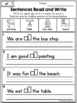 Sight Words Read and Write Sentences Primer Edition